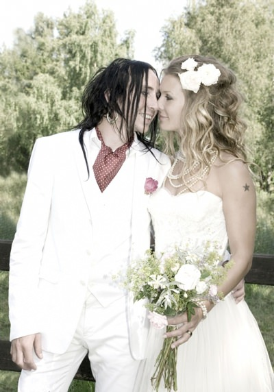 Dregen and Pernilla wedding photo